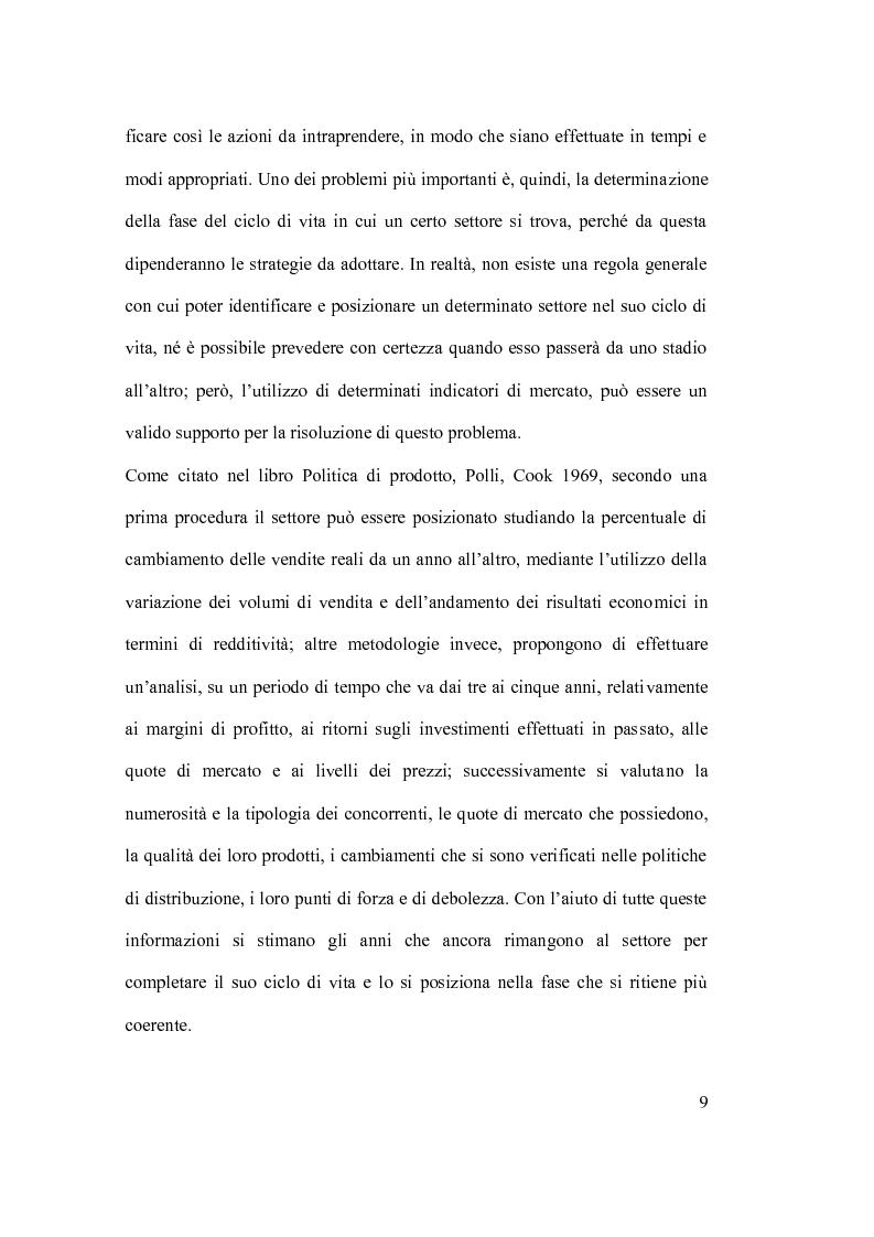Anteprima della tesi: Ciclo vita prodotto e sue applicazioni., Pagina 9