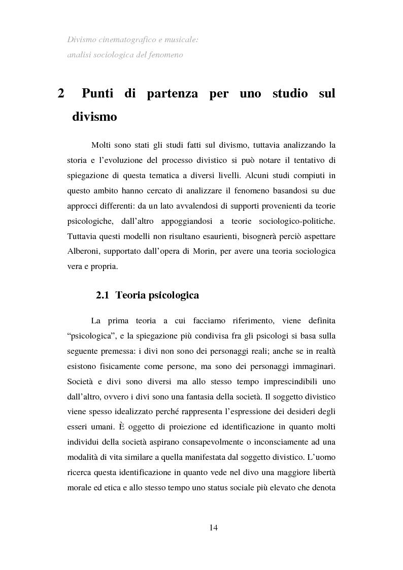 Anteprima della tesi: Divismo cinematografico e musicale: analisi sociologica del fenomeno, Pagina 11