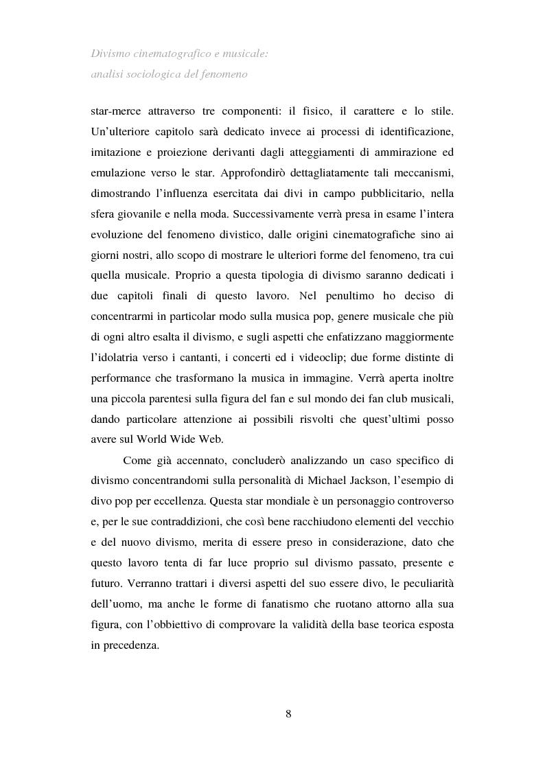 Anteprima della tesi: Divismo cinematografico e musicale: analisi sociologica del fenomeno, Pagina 5