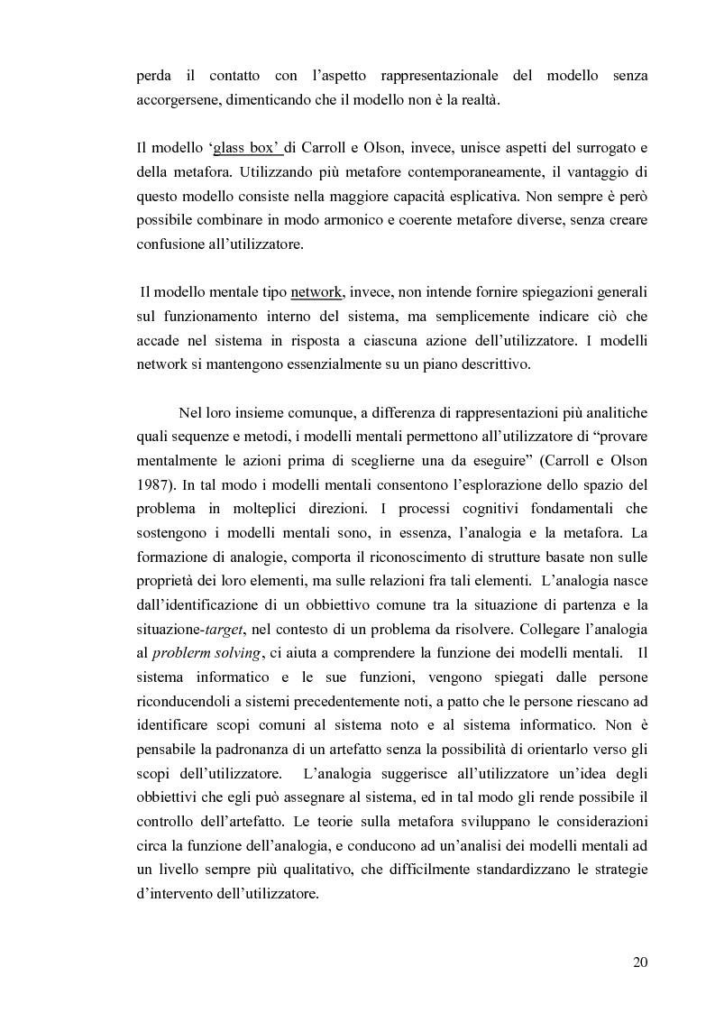 Anteprima della tesi: Aspetti cognitivi e culturali dell'interazione uomo-Internet, Pagina 17