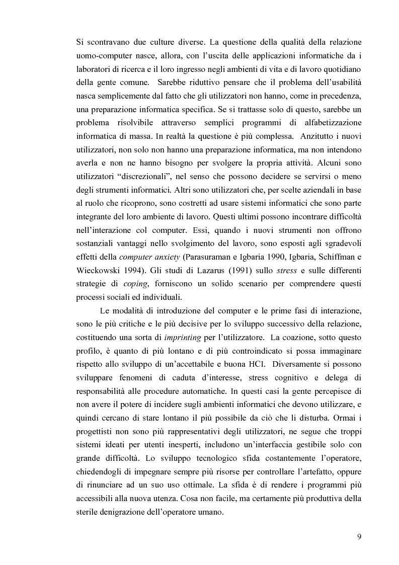 Anteprima della tesi: Aspetti cognitivi e culturali dell'interazione uomo-Internet, Pagina 6