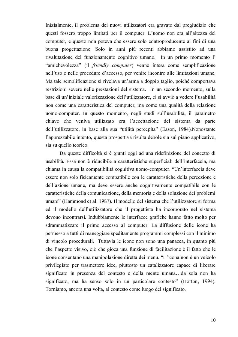 Anteprima della tesi: Aspetti cognitivi e culturali dell'interazione uomo-Internet, Pagina 7
