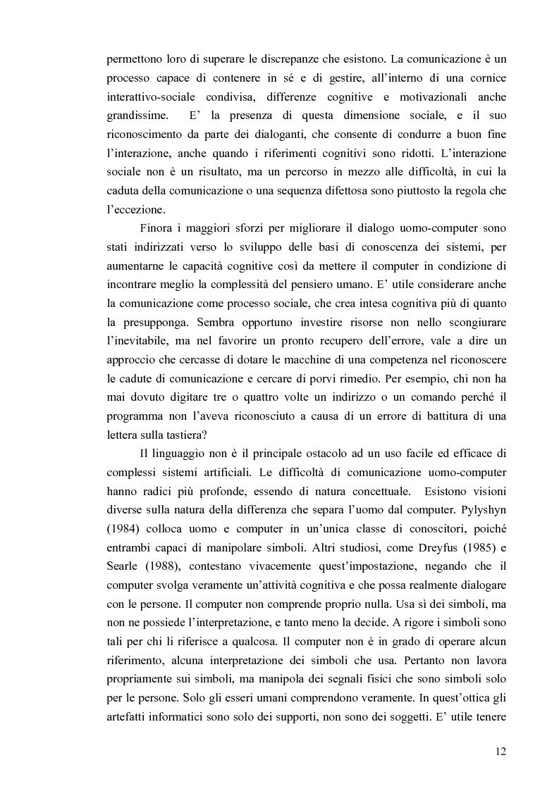 Anteprima della tesi: Aspetti cognitivi e culturali dell'interazione uomo-Internet, Pagina 9