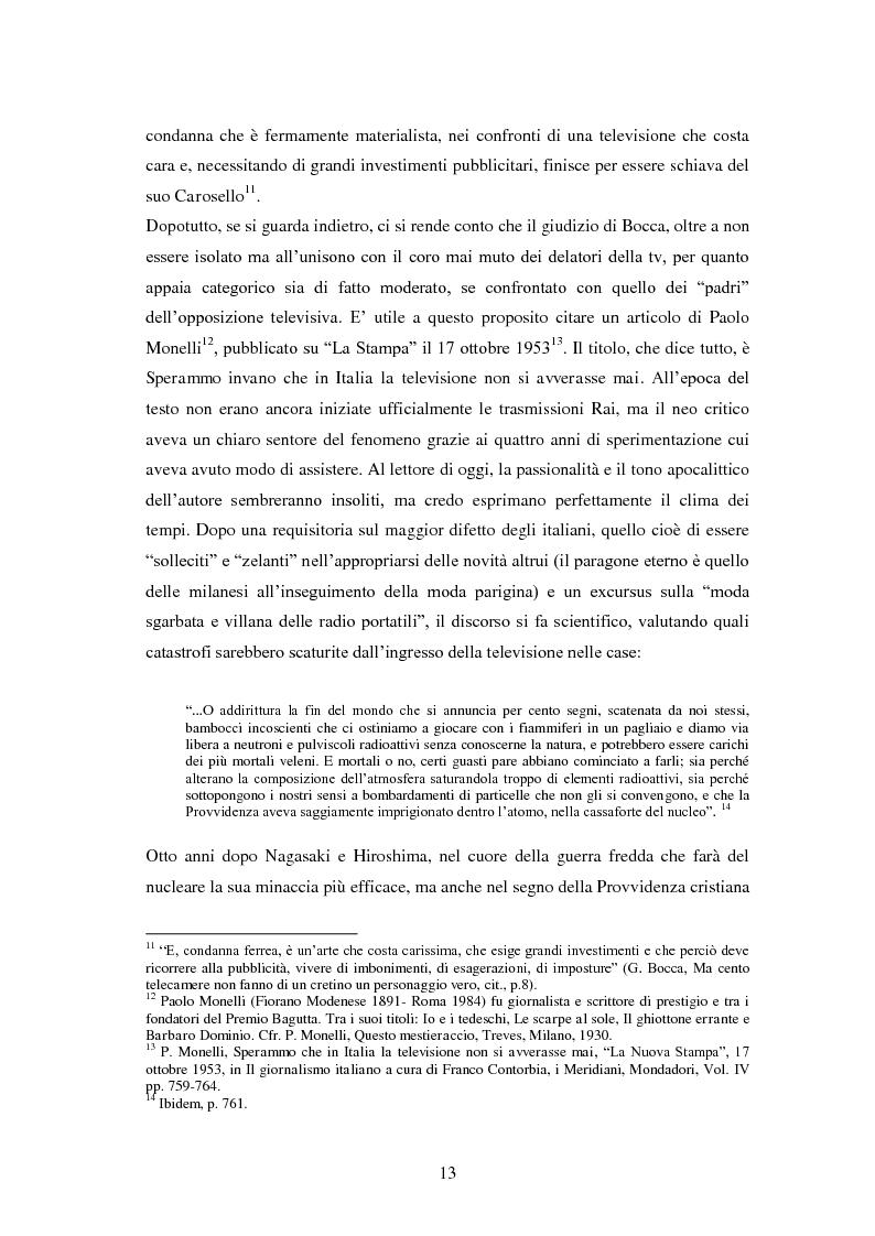 Anteprima della tesi: Le grandi firme della critica televisiva in Italia 1954-2000, Pagina 10