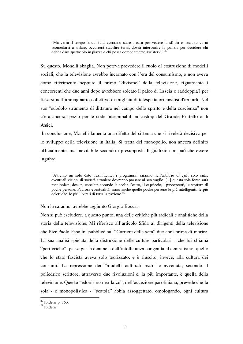 Anteprima della tesi: Le grandi firme della critica televisiva in Italia 1954-2000, Pagina 12