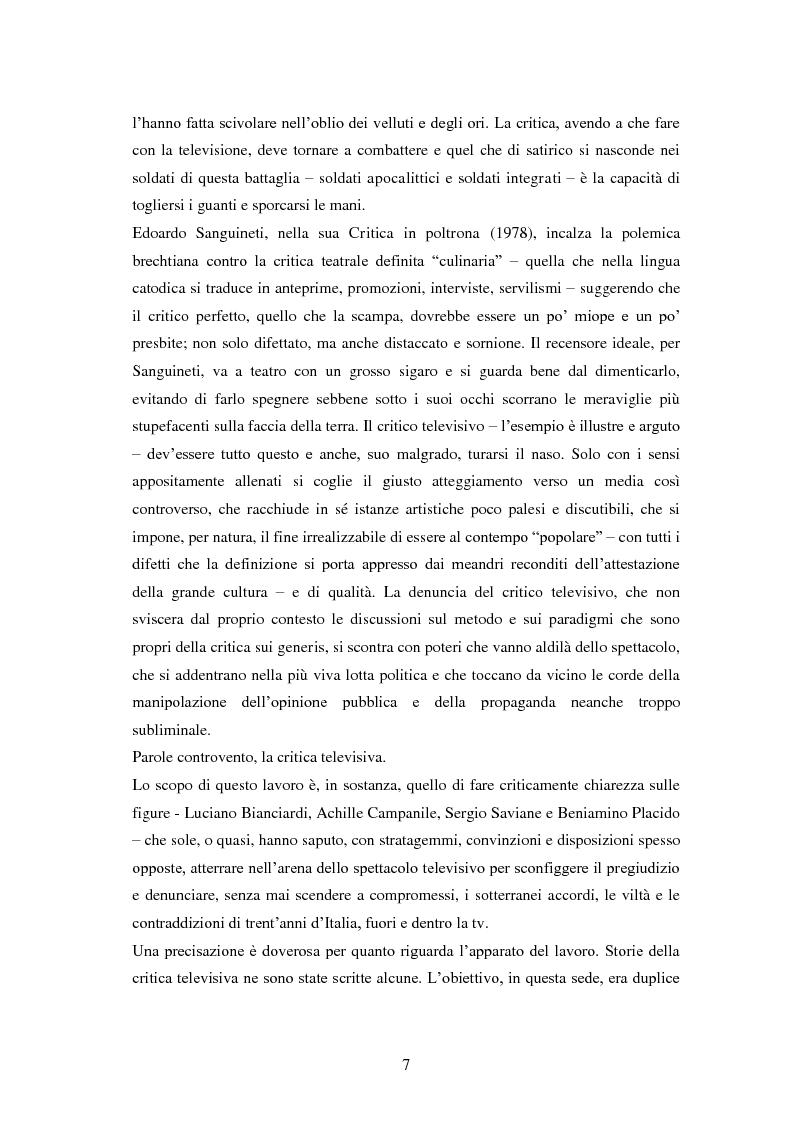 Anteprima della tesi: Le grandi firme della critica televisiva in Italia 1954-2000, Pagina 4