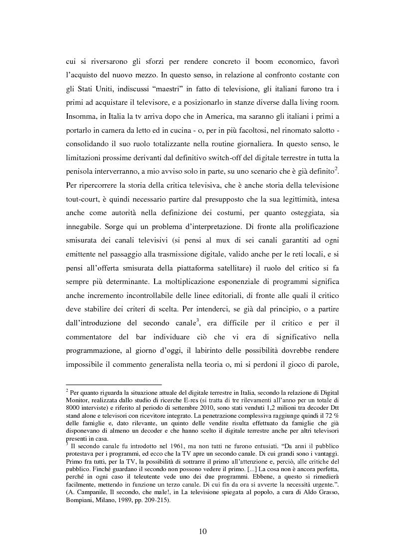 Anteprima della tesi: Le grandi firme della critica televisiva in Italia 1954-2000, Pagina 7