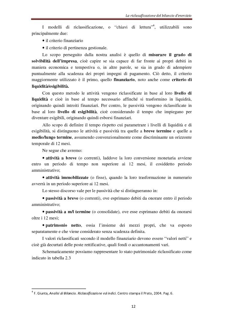 Anteprima della tesi: L'analisi per indici nella determinazione del rating bancario, Pagina 5