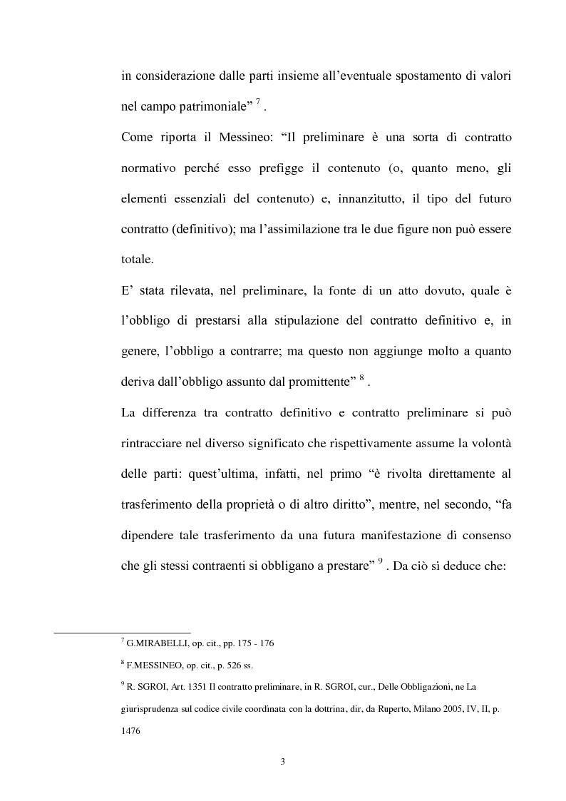 Anteprima della tesi: Promessa di vendita per persona da nominare e clausola di cessione del contratto e/o a favore del terzo, Pagina 4
