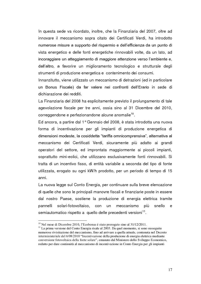 Anteprima della tesi: Le agevolazioni fiscali per l'utilizzo delle fonti energetiche rinnovabili in Italia., Pagina 10