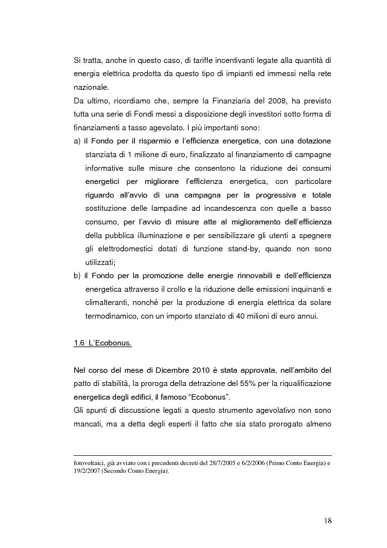 Anteprima della tesi: Le agevolazioni fiscali per l'utilizzo delle fonti energetiche rinnovabili in Italia., Pagina 11