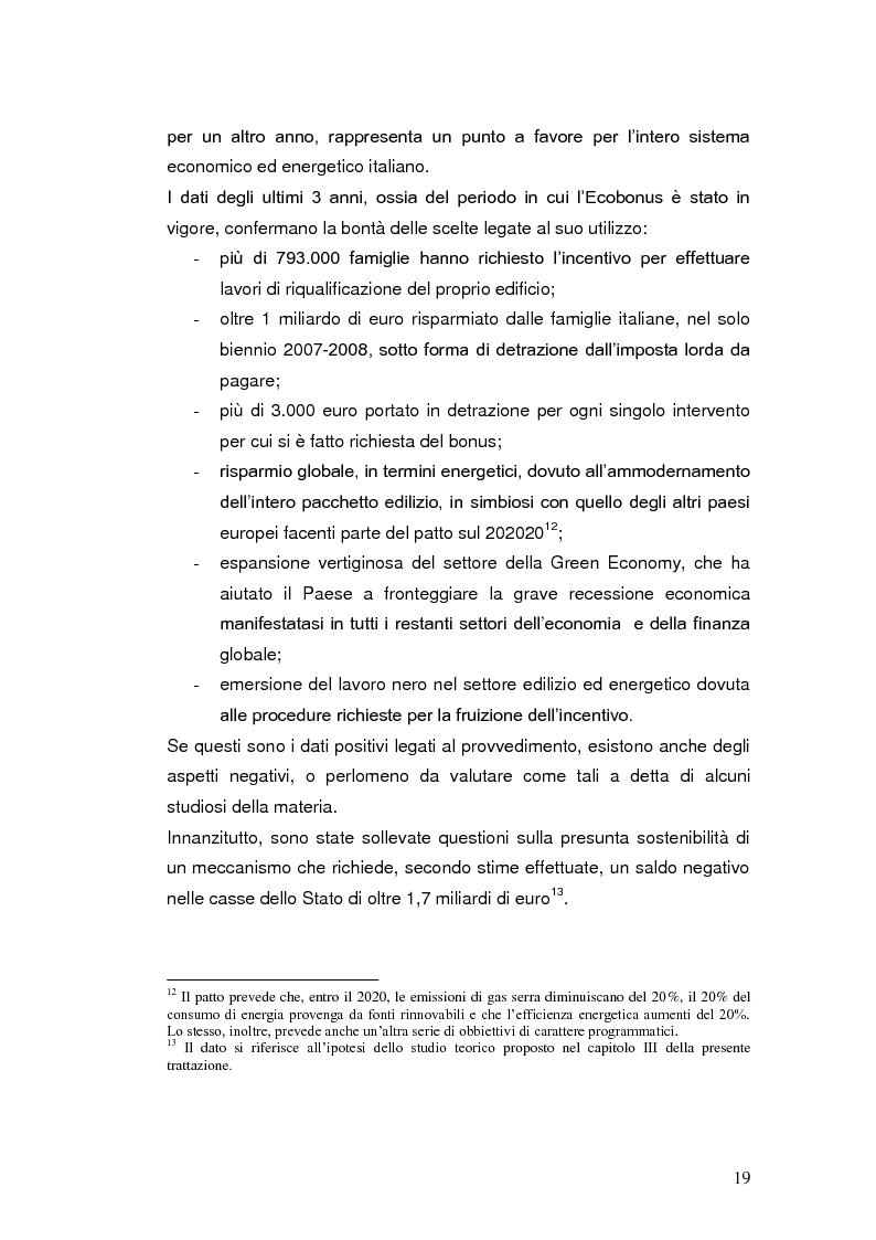 Anteprima della tesi: Le agevolazioni fiscali per l'utilizzo delle fonti energetiche rinnovabili in Italia., Pagina 12