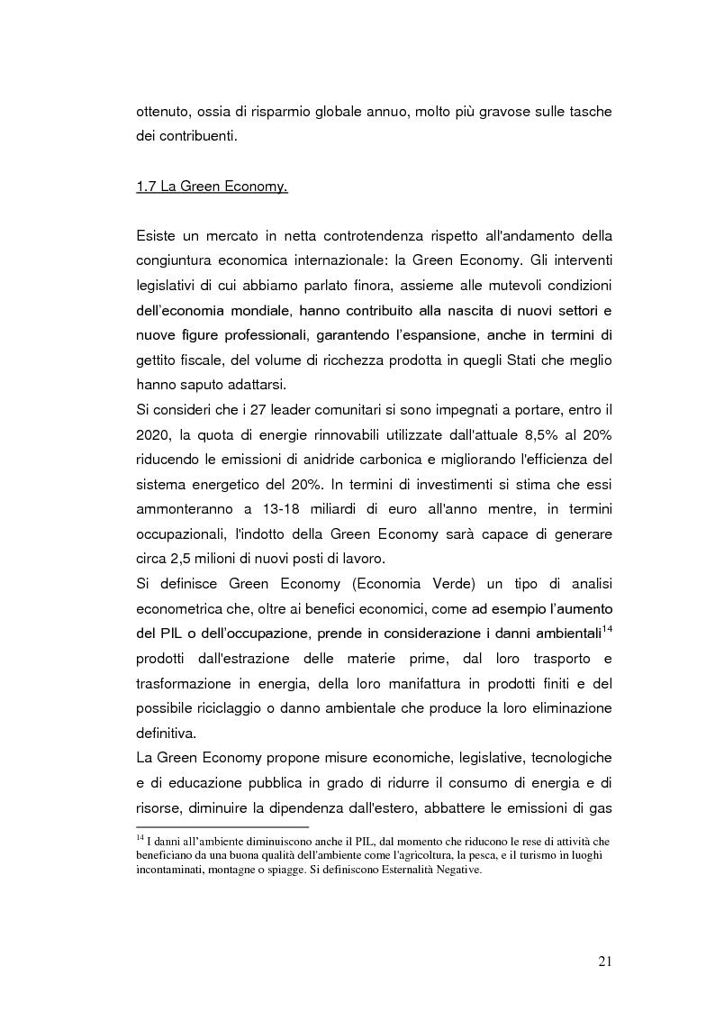 Anteprima della tesi: Le agevolazioni fiscali per l'utilizzo delle fonti energetiche rinnovabili in Italia., Pagina 14