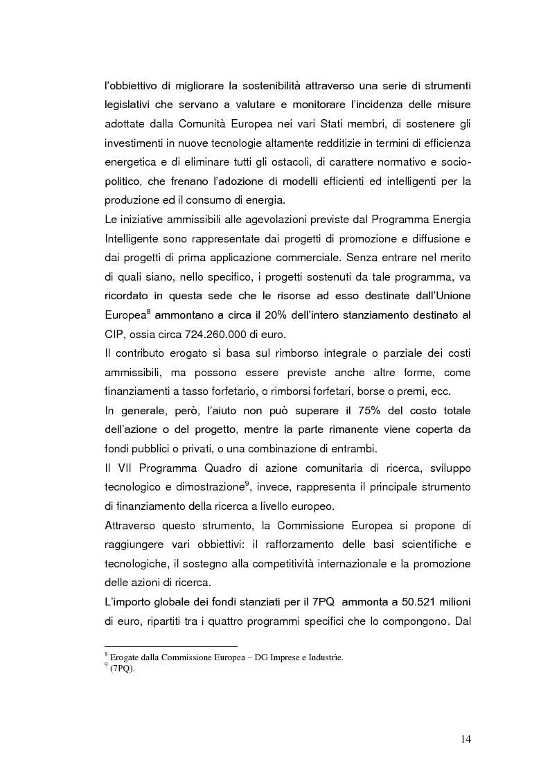 Anteprima della tesi: Le agevolazioni fiscali per l'utilizzo delle fonti energetiche rinnovabili in Italia., Pagina 7