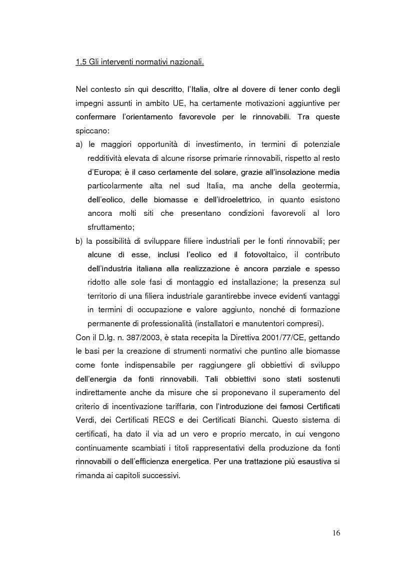 Anteprima della tesi: Le agevolazioni fiscali per l'utilizzo delle fonti energetiche rinnovabili in Italia., Pagina 9