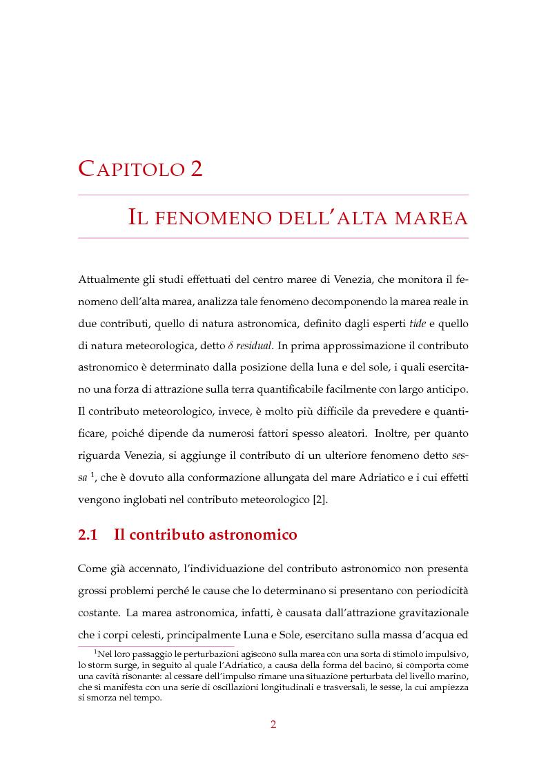 Anteprima della tesi: Modelli statistici nella previsione delle maree a Venezia, Pagina 3