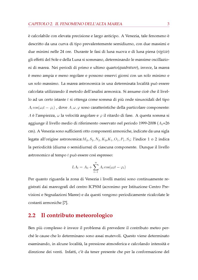 Anteprima della tesi: Modelli statistici nella previsione delle maree a Venezia, Pagina 4