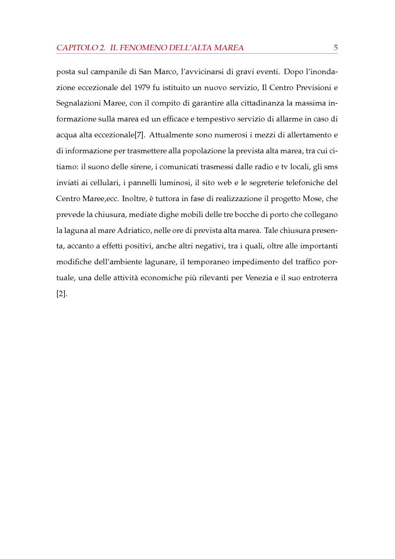 Anteprima della tesi: Modelli statistici nella previsione delle maree a Venezia, Pagina 6