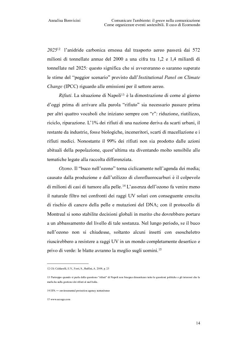 Anteprima della tesi: Comunicare l'ambiente: il green nella comunicazione. Come organizzare eventi sostenibili. Il caso di Ecomondo, Pagina 10