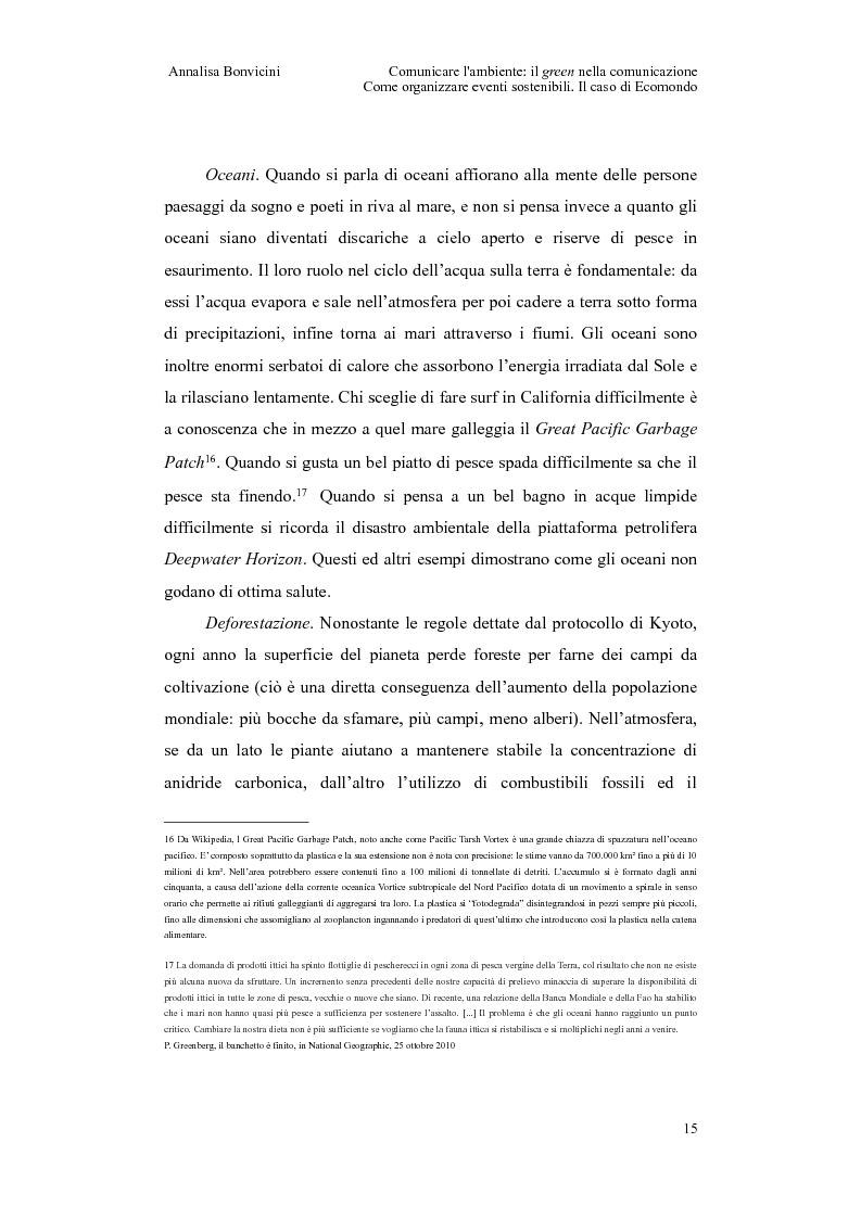 Anteprima della tesi: Comunicare l'ambiente: il green nella comunicazione. Come organizzare eventi sostenibili. Il caso di Ecomondo, Pagina 11