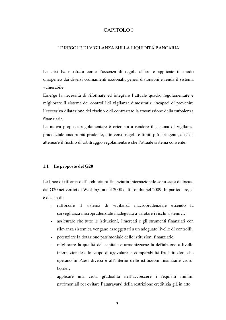 Anteprima della tesi: Il nuovo framework sul rischio di liquidità delle banche, Pagina 4
