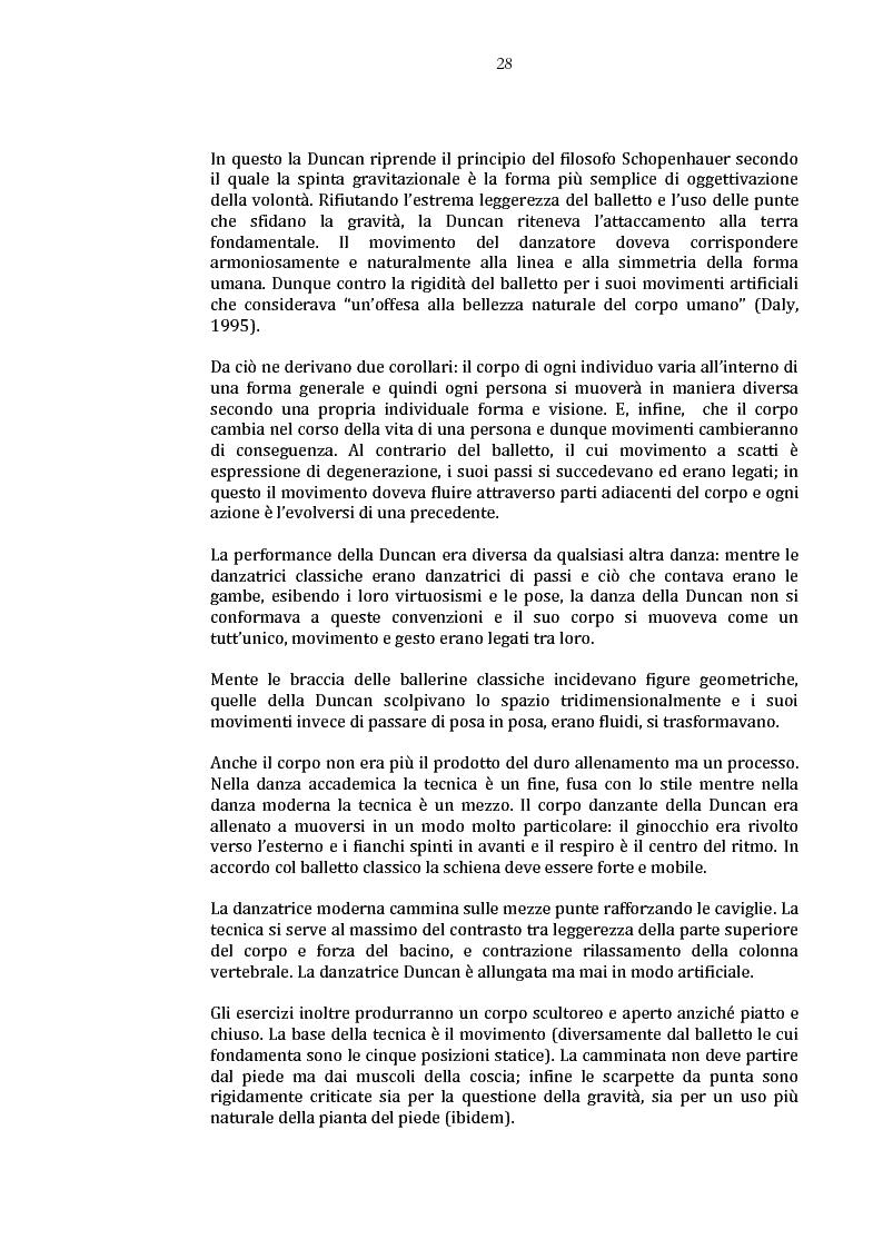 Anteprima della tesi: Danza e anoressia. L'ipotesi di Claude Lorin., Pagina 12