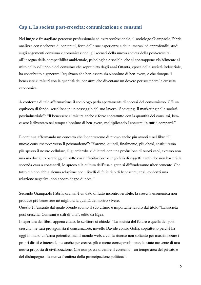 Anteprima della tesi: Contributo del sociologo Giampaolo Fabris alla conoscenza della società contemporanea, Pagina 5