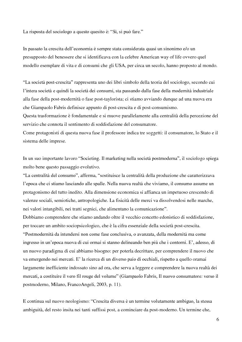Anteprima della tesi: Contributo del sociologo Giampaolo Fabris alla conoscenza della società contemporanea, Pagina 6