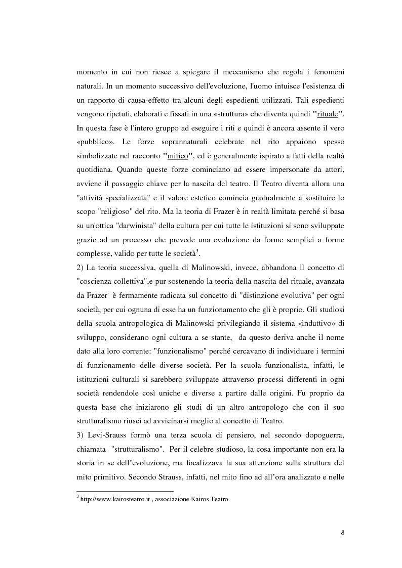 Anteprima della tesi: Le scene della vita, la vita in scena, Pagina 7