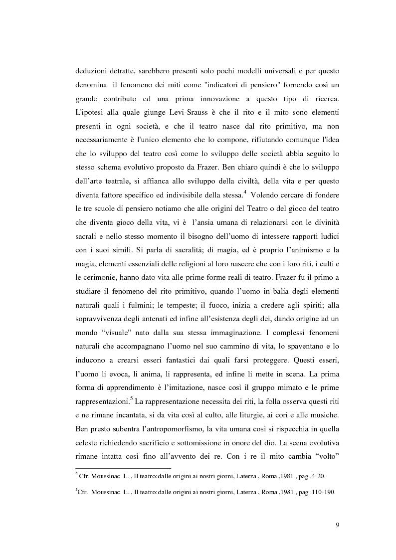Anteprima della tesi: Le scene della vita, la vita in scena, Pagina 8