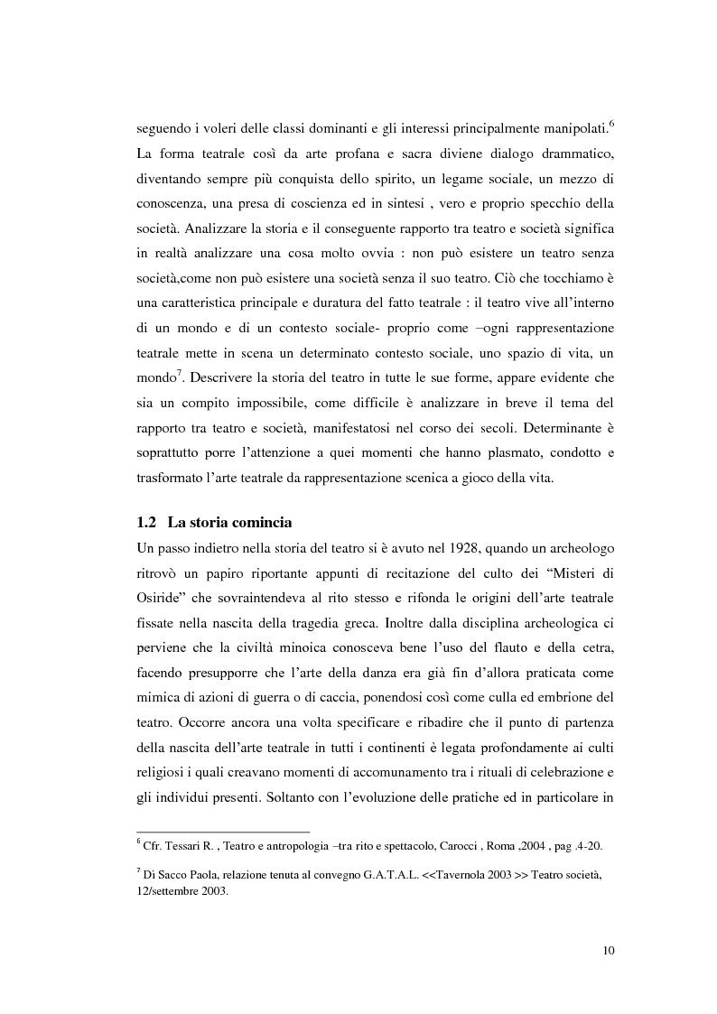Anteprima della tesi: Le scene della vita, la vita in scena, Pagina 9
