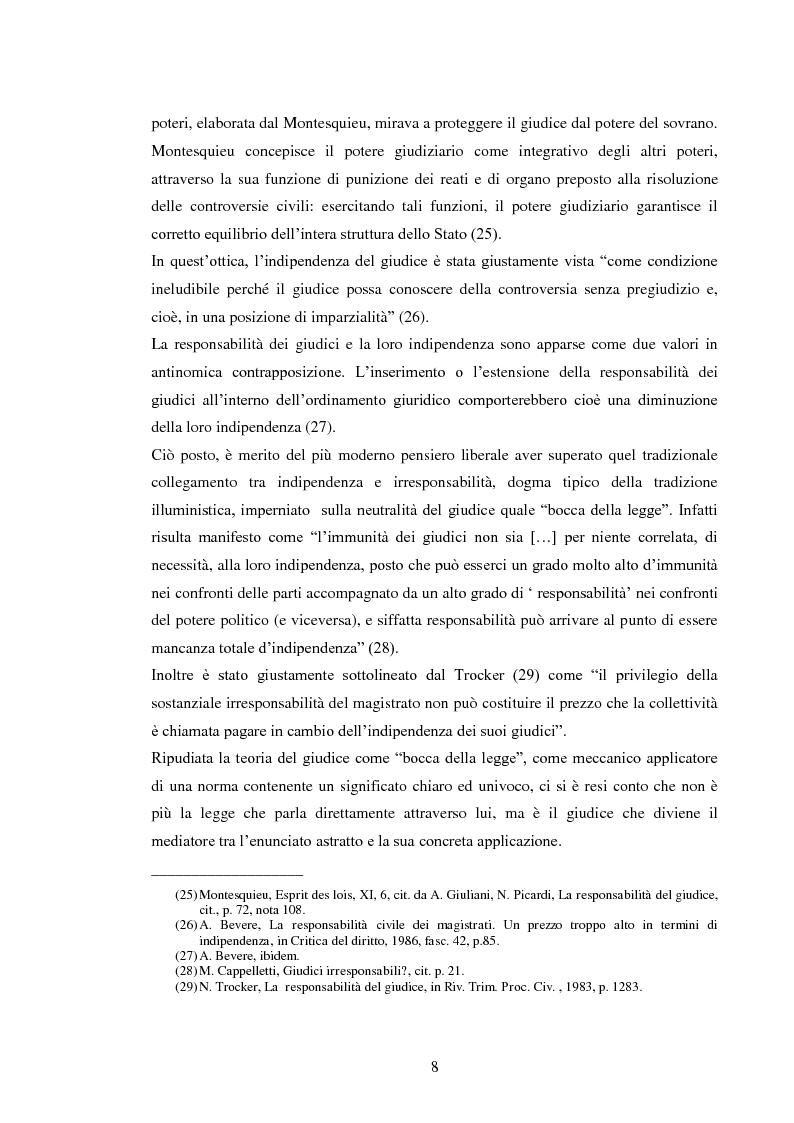 Anteprima della tesi: La responsabilità civile del magistrato e dell'arbitro, Pagina 11