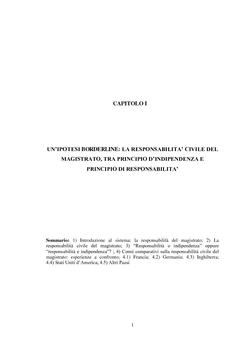 Anteprima della tesi: La responsabilità civile del magistrato e dell'arbitro, Pagina 4