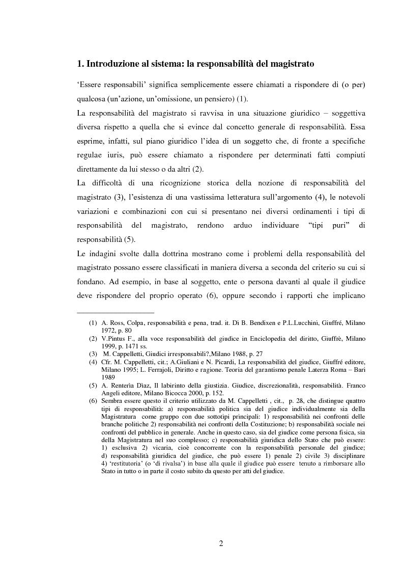 Anteprima della tesi: La responsabilità civile del magistrato e dell'arbitro, Pagina 5