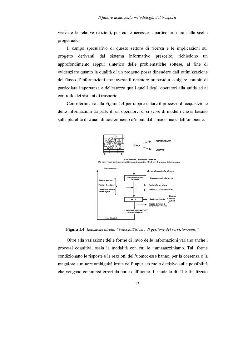 Anteprima della tesi: Lo studio dell'affaticamento e gli effetti sulla percezione visiva di un conducente alla guida attraverso applicazioni sul campo e con l'utilizzo del simulatore., Pagina 14