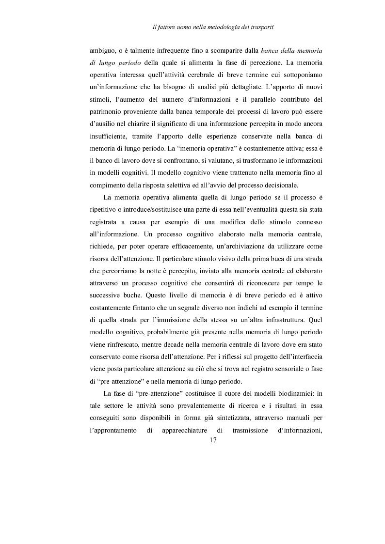 Anteprima della tesi: Lo studio dell'affaticamento e gli effetti sulla percezione visiva di un conducente alla guida attraverso applicazioni sul campo e con l'utilizzo del simulatore., Pagina 18