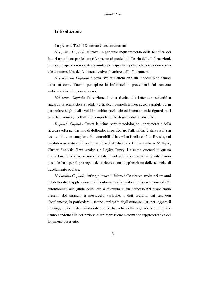 Anteprima della tesi: Lo studio dell'affaticamento e gli effetti sulla percezione visiva di un conducente alla guida attraverso applicazioni sul campo e con l'utilizzo del simulatore., Pagina 4