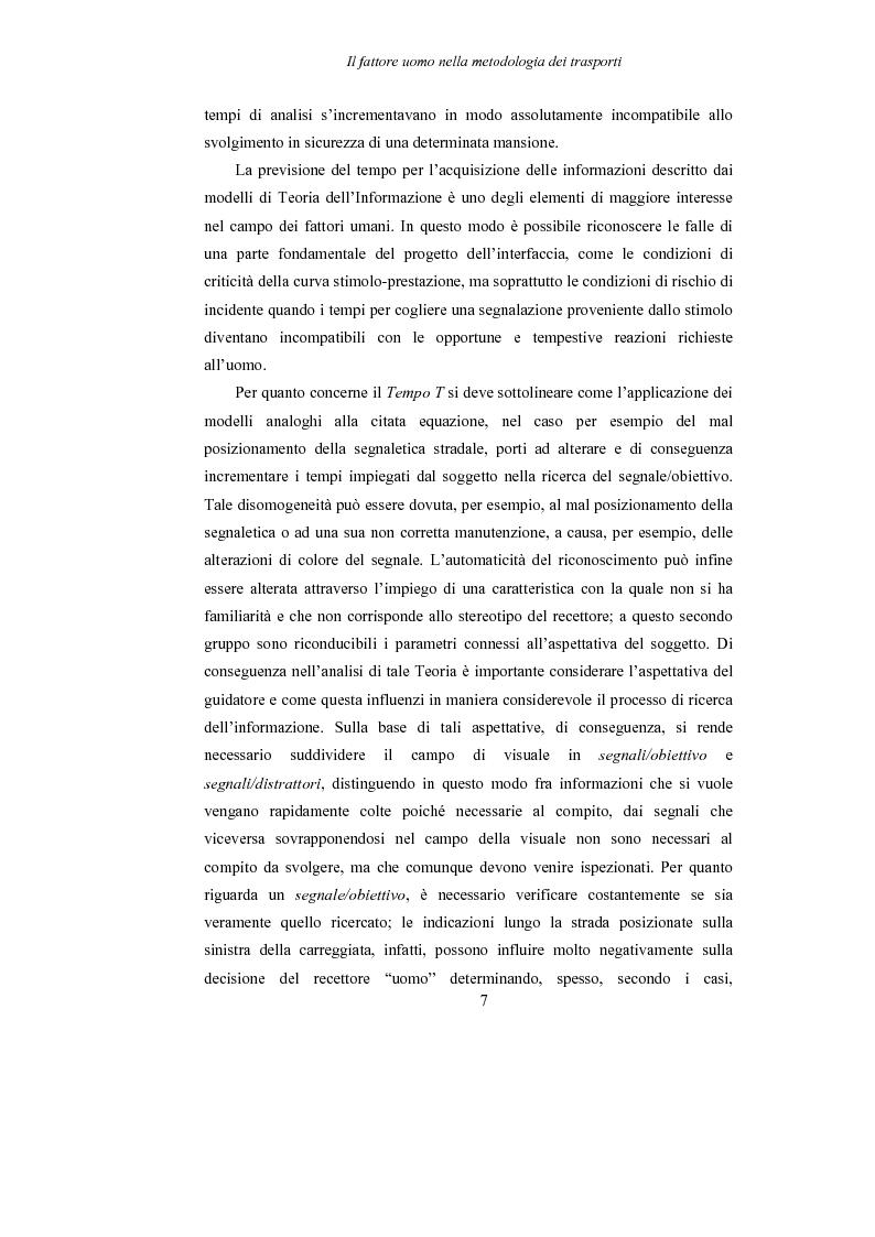 Anteprima della tesi: Lo studio dell'affaticamento e gli effetti sulla percezione visiva di un conducente alla guida attraverso applicazioni sul campo e con l'utilizzo del simulatore., Pagina 8