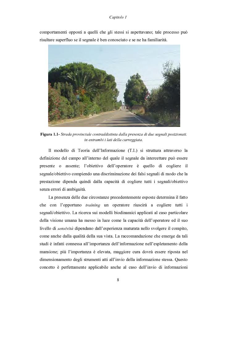 Anteprima della tesi: Lo studio dell'affaticamento e gli effetti sulla percezione visiva di un conducente alla guida attraverso applicazioni sul campo e con l'utilizzo del simulatore., Pagina 9