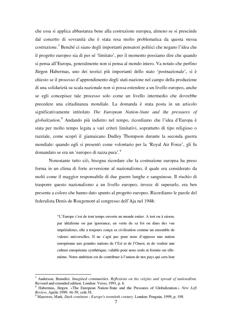Anteprima della tesi: Le dimensioni europee dell'insegnamento. Immaginare e rappresentare una nuova comunità nella scuola europea, Pagina 5
