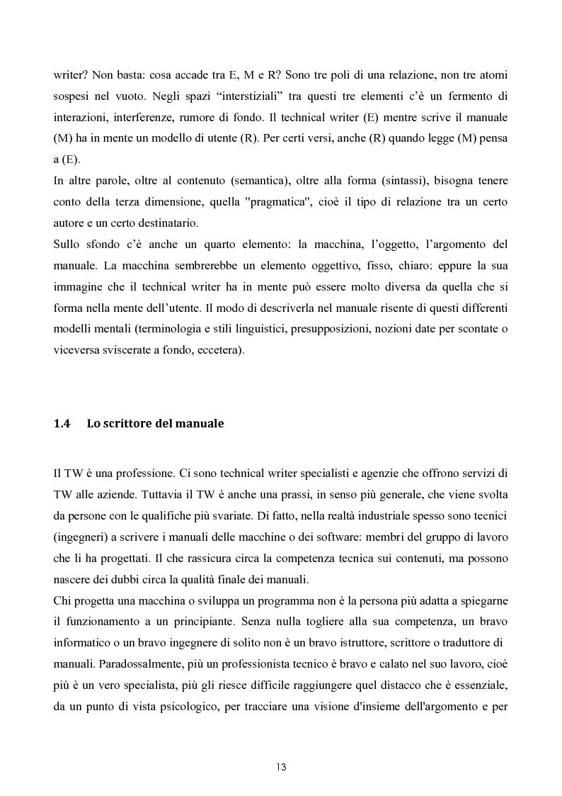 Anteprima della tesi: Razionalizzazione della procedura di realizzazione della documentazione tecnica di un bene strumentale., Pagina 9