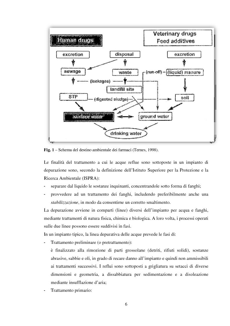 Anteprima della tesi: Effetto di alcuni farmaci per uso umano sulla qualità ecosistemica del Fiume Arbia (SI), Pagina 4