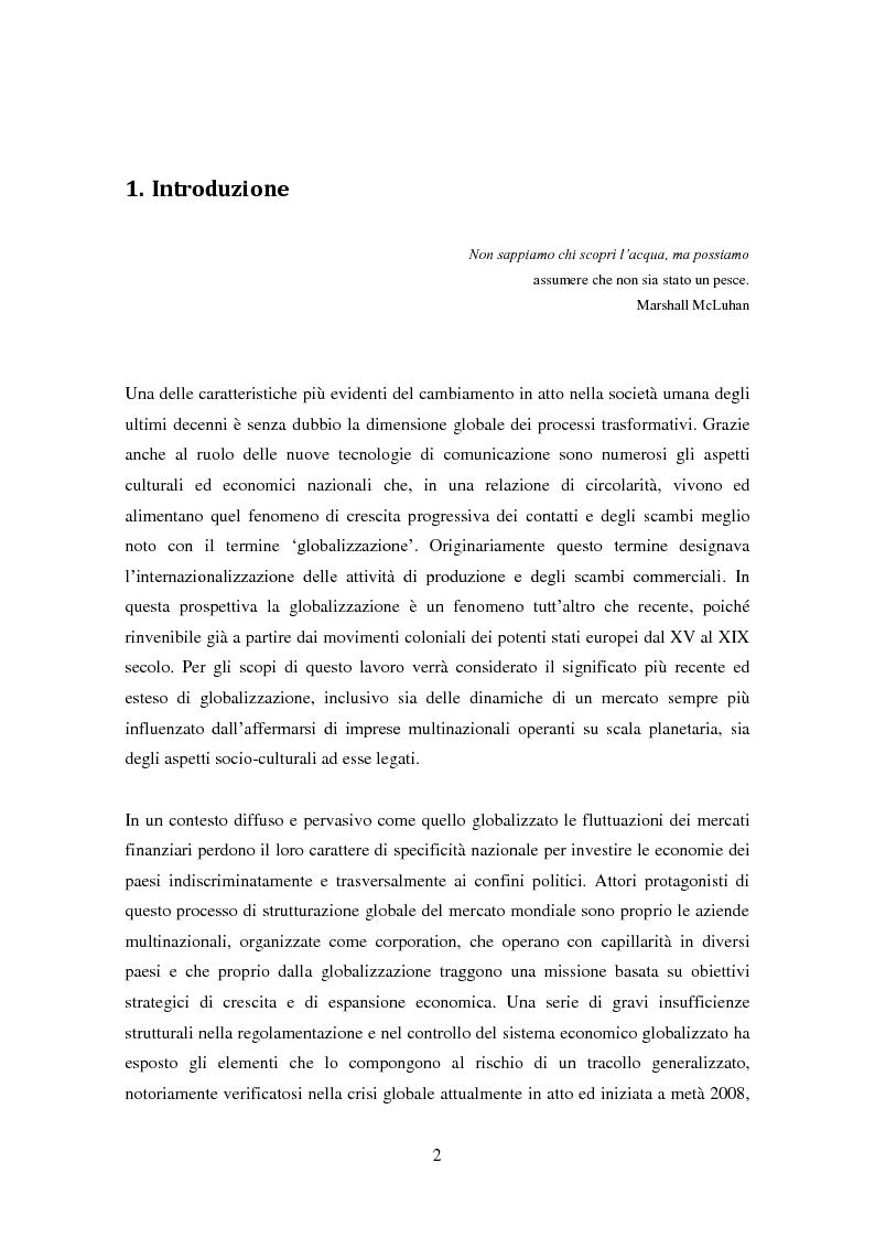 """Anteprima della tesi: La domanda di innovazione nelle organizzazioni """"glocalizzate"""", Pagina 2"""