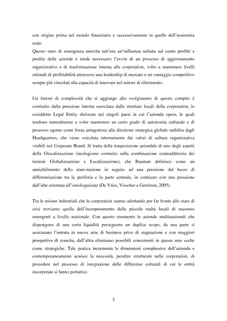 """Anteprima della tesi: La domanda di innovazione nelle organizzazioni """"glocalizzate"""", Pagina 3"""