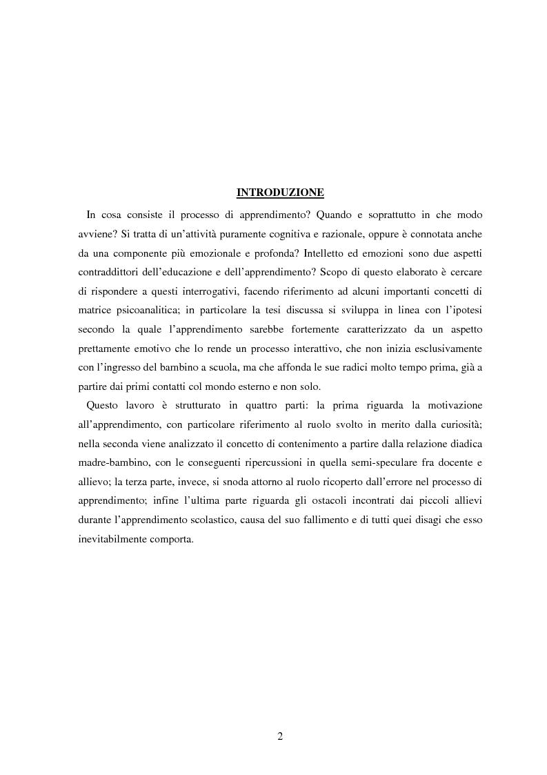 Anteprima della tesi: Le basi emotive dell'apprendimento, Pagina 2