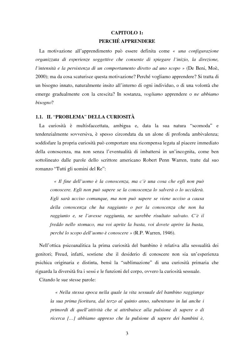 Anteprima della tesi: Le basi emotive dell'apprendimento, Pagina 3