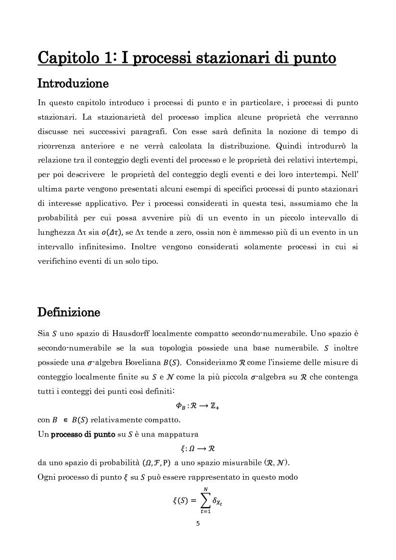 Anteprima della tesi: Processi di Punto e Metodo di Cox, Pagina 3