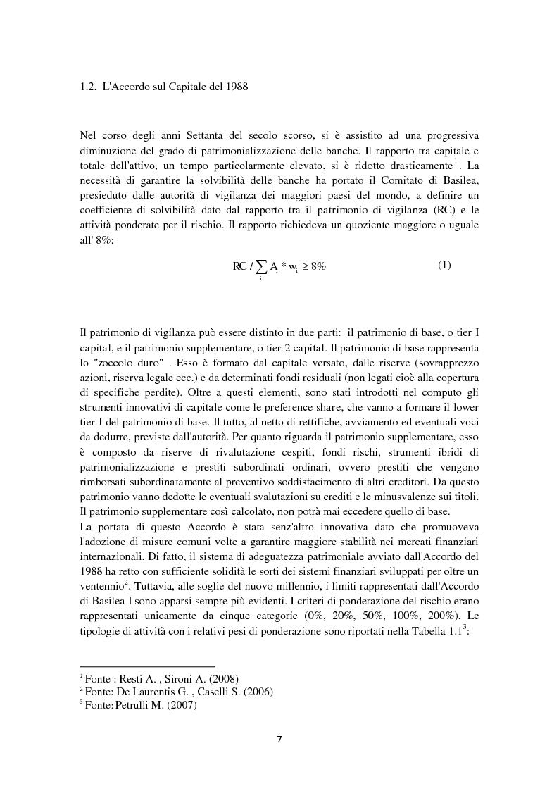 Anteprima della tesi: Basilea 3: l'evoluzione della normativa finanziaria a seguito della crisi dei mercati finanziari, Pagina 3