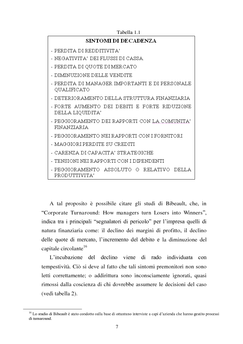 """Anteprima della tesi: Rinegoziazione del debito e ''Turnaround'': Il caso """"Piaggio"""", Pagina 13"""