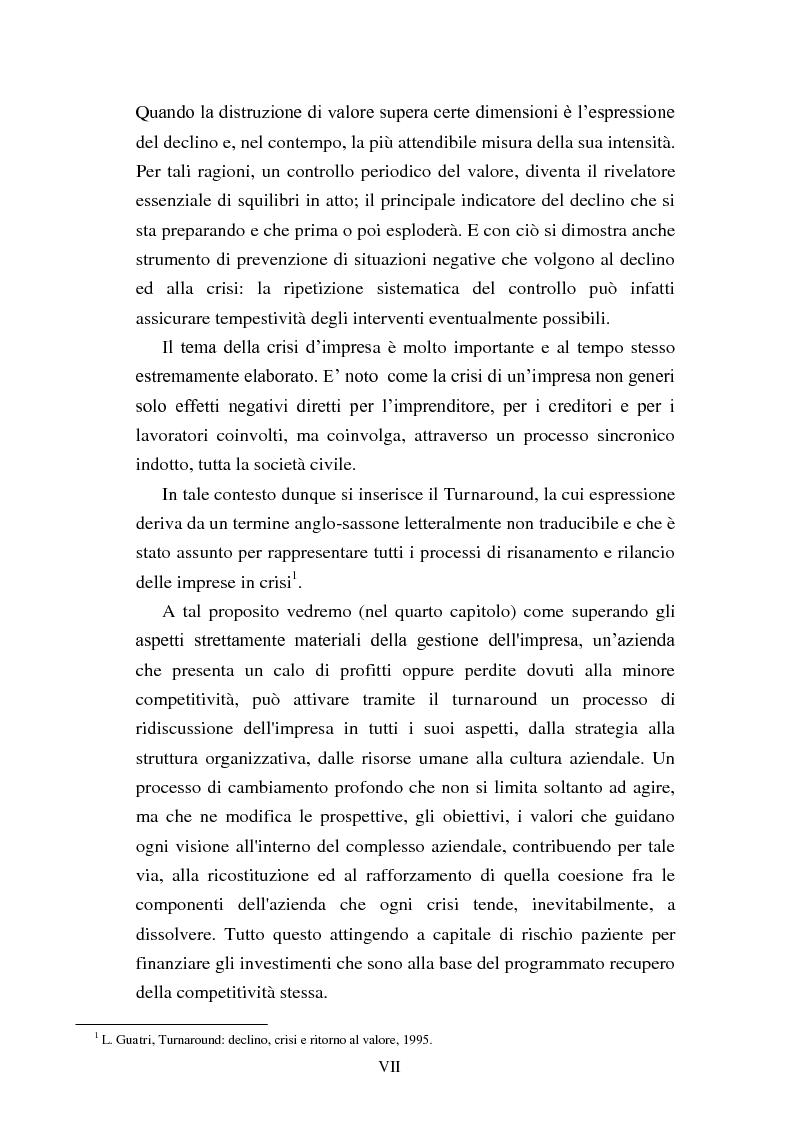 """Anteprima della tesi: Rinegoziazione del debito e ''Turnaround'': Il caso """"Piaggio"""", Pagina 3"""
